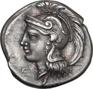 obverse: Northern Lucania, Velia. AR Didrachm, c. 300-280 BC