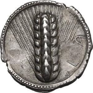 obverse: Southern Lucania, Metapontum. AR Nomos, c. 540-510 BC