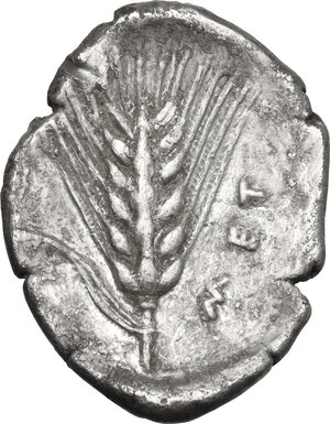 reverse: Southern Lucania, Metapontum. AR Nomos, c. 430-400 BC