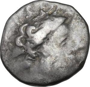 obverse: Southern Gaul, Insubres. AR Tetrobol, 2nd century BC. Imitating Massalia