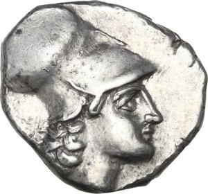 obverse: Southern Lucania, Metapontum. AR Diobol. Circa 325-275 BC
