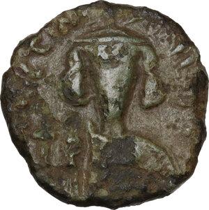 obverse: Justinian II (685-695).. AE Half Follis. Struck 685-695. Sardinian mint
