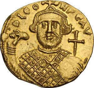 obverse: Leontius (695-698).. AV Solidus, Constantinople mint