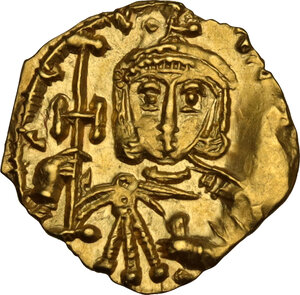 obverse: Constantine V, Copronymus (741-775).. AV Tremissis, Syracuse mint