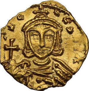 reverse: Constantine V, Copronymus (741-775).. AV Tremissis, Syracuse mint