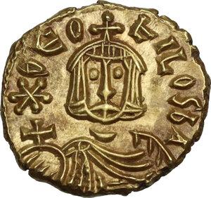obverse: Theophilus (829-842).. AV Tremissis, Syracuse mint