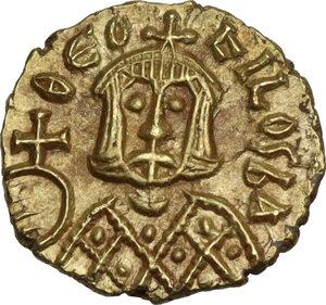 reverse: Theophilus (829-842).. AV Tremissis, Syracuse mint