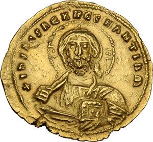 reverse: Basil II, Bulgaroktonos (976-1025).. AV Solidus, Constantinople mint