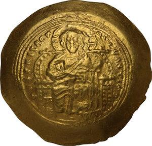 obverse: Constantine IX, Monomachus (1042-1055 AD).. AV Histamenon Nomisma, Constantinople mint