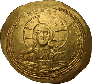 obverse: Constantine IX Monomachus (1042-1055 AD).. AV Histamenon Nomisma, Constantinople mint