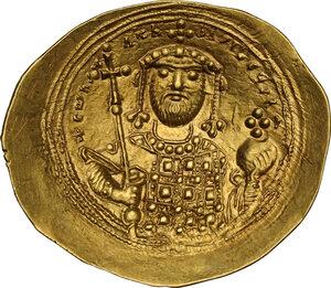 reverse: Constantine IX Monomachus (1042-1055 AD).. AV Histamenon Nomisma, Constantinople mint