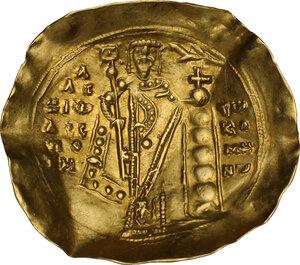 reverse: Alexius I, Comnenus (1081-1118) . AV Hyperpyron Nomisma, Constantinople mint