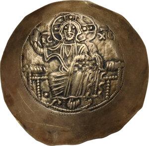 obverse: Manuel I Comnenus (1143-1180).. EL Aspron Trachy, Constantinople mint