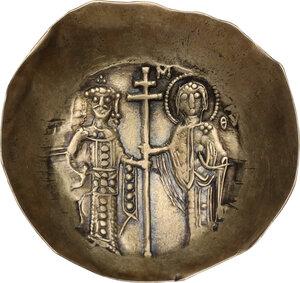 reverse: Manuel I Comnenus (1143-1180).. EL Aspron Trachy, Constantinople mint