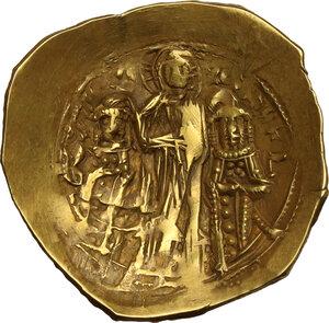 reverse: Andronicus II Palaeologus, with Michael IX (1295-1320).. AV Hyperpyron Nomisma, Constantinople mint, c. 1303-1320