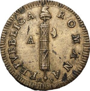 obverse: Ancona.  Repubblica Romana (1798-1799).. Due Baiocchi, sigle A P