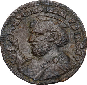 reverse: Ascoli.  Pio VI (1775-1799), Giovanni Angelo Braschi. Sampietrino da 2 e mezzo baiocchi 1797 ridotto