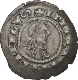 obverse: Bergamo.  Comune a nome di Federico II Imperatore (Sec. XIII-XIV). Denaro scodellato