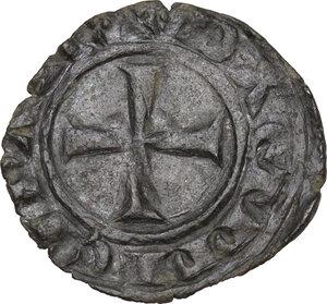 reverse: Brindisi o Messina.  Carlo I d Angiò (1266 -1282).. Denaro