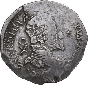 obverse: Cagliari.  Filippo II di Spagna (1556-1598).. Da 10 Reali