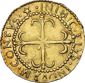 reverse: Cagliari.  Filippo V di Spagna (1700-1707).. Scudo d oro 1702