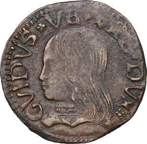 obverse: Casteldurante.  Guidobaldo I da Montefeltro (1482-1508). Quattrino