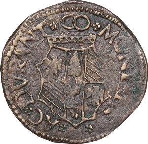 reverse: Casteldurante.  Guidobaldo I da Montefeltro (1482-1508). Quattrino