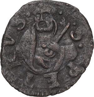 reverse: Faenza.  Astorgio II Manfredi (1448-1468). Denaro