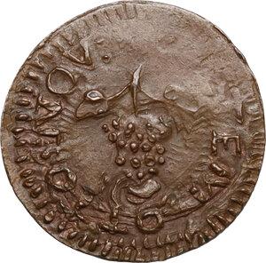 reverse: Faenza.  Opera Pia di S. Giovanni Decollato (XVI sec.). Tessera di carità, autunno (Settembre, Ottobre, Novembre)