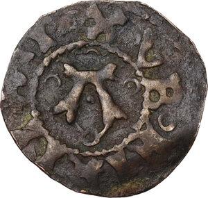 obverse: Fermo.  Martino V (1417-1431), Oddone Colonna. Contraffazione coeva del Bolognino