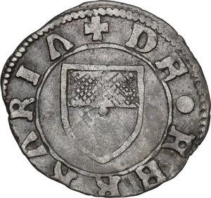 reverse: Ferrara.  Borso d Este (1450-1471).. Quattrino