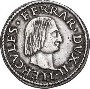 obverse: Ferrara.  Ercole II d Este (1534-1559). Testone o idra