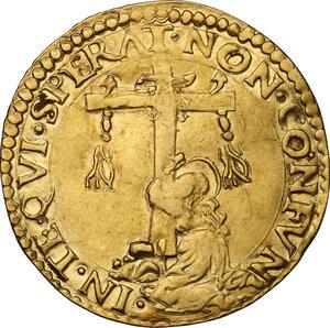 reverse: Ferrara.  Ercole II d Este (1534-1559). Scudo d oro del sole