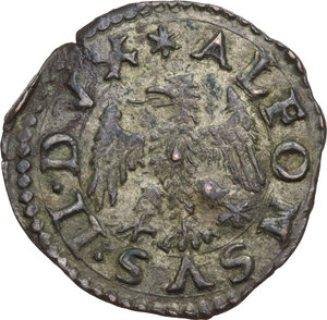 obverse: Ferrara.  Alfonso II d Este (1559-1597). Quattrino