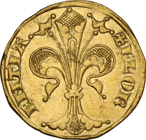 obverse: Firenze.  Repubblica (Sec. XIII-1532). Fiorino d oro IV serie, 1267-1303, simbolo cerchio, maestro di zecca sconosciuto