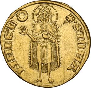 reverse: Firenze.  Repubblica (Sec. XIII-1532). Fiorino d oro IV serie, 1267-1303, simbolo cerchio, maestro di zecca sconosciuto