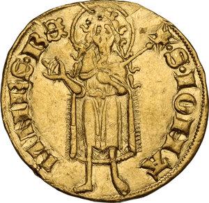 reverse: Firenze.  Repubblica (Sec. XIII-1532). Fiorino d oro IX serie, 1338 I sem., simbolo fibbia con ardiglione, Giovanni di Stefano di Soderino maestro di zecca