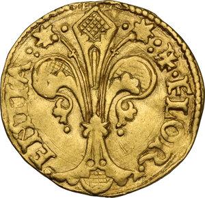 obverse: Firenze.  Repubblica (Sec. XIII-1532). Fiorino d oro XXX serie, Giugno-Agosto 1524, simbolo acciarino con lettera Z sopra, Zenobio di Onofrio Acciaiuoli maestro di zecca