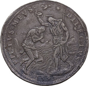 reverse: Firenze.  Ferdinando I de Medici (1587-1609). Piastra 1599