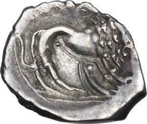 reverse: Southern Gaul, Insubres. AR Tetrobol, 2nd century BC. Imitating Massalia