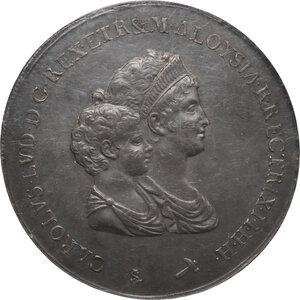 obverse: Firenze.  Carlo I di Borbone e Maria Luigia Reggente (1803-1807). Dena o scudo da 10 lire fiorentine 1803