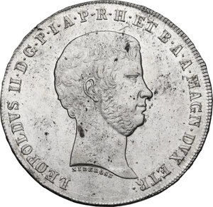 obverse: Firenze.  Leopoldo II di Lorena (1824-1859). Scudo da 10 paoli o francescone 1859