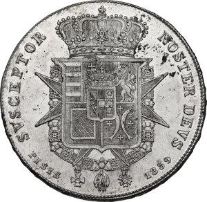 reverse: Firenze.  Leopoldo II di Lorena (1824-1859). Scudo da 10 paoli o francescone 1859