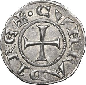 reverse: Genova.  Repubblica (1139-1339). Grosso da 6 denari