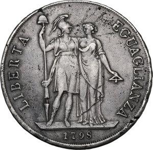 reverse: Genova.  Repubblica Ligure (1798-1805).. Da 8 lire A. I, 1798
