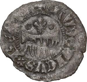 obverse: L Aquila.  Ludovico I d Angiò Pretendente (1382-1384). Denaro provisino