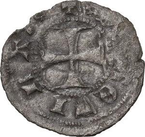 reverse: L Aquila.  Ludovico I d Angiò Pretendente (1382-1384). Denaro provisino