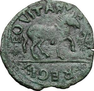 reverse: L Aquila.  Ferdinando I d Aragona (1458-1494). Cavallo, coniazione anteriore alla ribellione