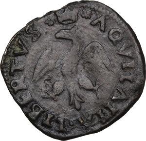 reverse: L Aquila.  Innocenzo VIII (1484-1492) Giovanni Battista Cybo. Cavallo