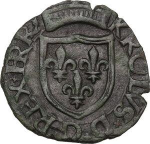 obverse: L Aquila.  Carlo VIII re di Francia (1495).. Cavallo